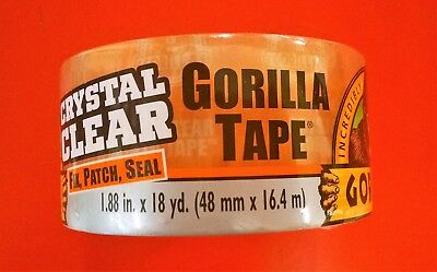 Gorilla Clear Repair Tape Vinyl Patch Inflatable Underwater Wet Dry 1.88 X 54