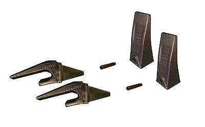 2 - Mini Excavator Bucket Teeth Weld-on Shanks Pins - X156l T230x156 P156