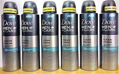 Dove Men+Care Deospray CLEAN FRESH  Deodorant > 1 Posten = 6 x 150 ml