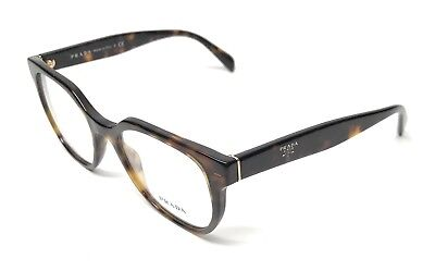 NEW PRADA VPR 02U 2AU-1O1 HAVANA WOMEN'S AUTHENTIC EYEGLASSES FRAME 50-17
