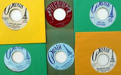 FOUR ESQUIRES lot of 6x45 rpm singles 1950s pop vocal group  Ct1542 (Groups Of Four)