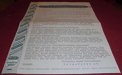 blatt alt roto ag mitteilungen firmenansicht briefkopf büro reklame werbung 1952