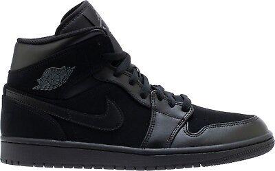 Air Jordan 1 Mid Black/Dark Grey-Black (554724 050) Air Jordan 1 Shoes