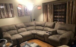 Sectional and Sofa with recliner
