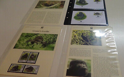 2002 Congo WWF stamps and first day covers with gorilla information.