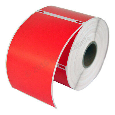 Dymo Lw 30256 Color Large Direct Thermal Red Shipping Labels - 1 Roll Of 300