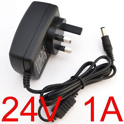 AC/Dc Red Eléctrica Adaptador/Suministro/Cargador/Fuente 800MA/1.0 Amp 24V