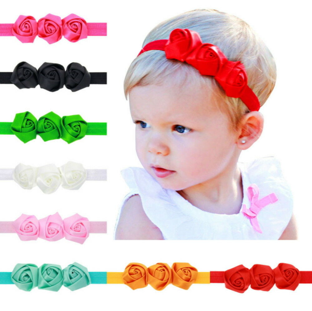 8 Pcs Colors Newborn Baby Girl Headband Infant Toddler Bow Hair Band Accessories Baby