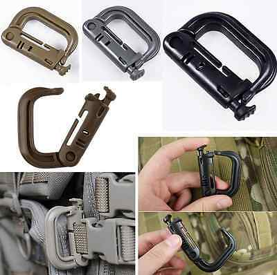 Utility Molle D-Ring Tactical Backpack EDC Clip Locking Buckle Quick Carabiner