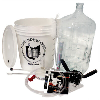 Gold Beer Homebrew Kit with 6 Gallon Glass Carboy