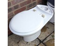 Standard ceramic toilet bowl pan (for use with close-coupled cistern tank)