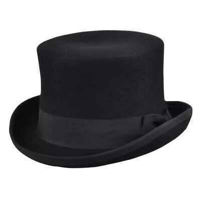 - Maz Men's/Ladies Black Wool Felt Soft Top Hat  - 2 Sizes. fast post 24-48 hours