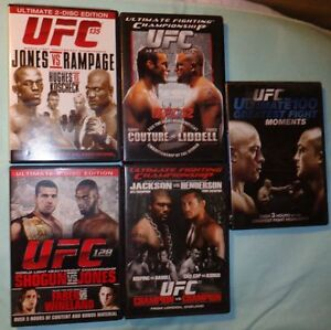 Collection of  UFC Fighting DVDs