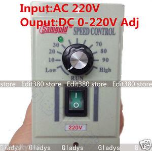 Ac 220v 400w 1 phase dc motor speed controller 0 220v for Single phase ac motor speed control