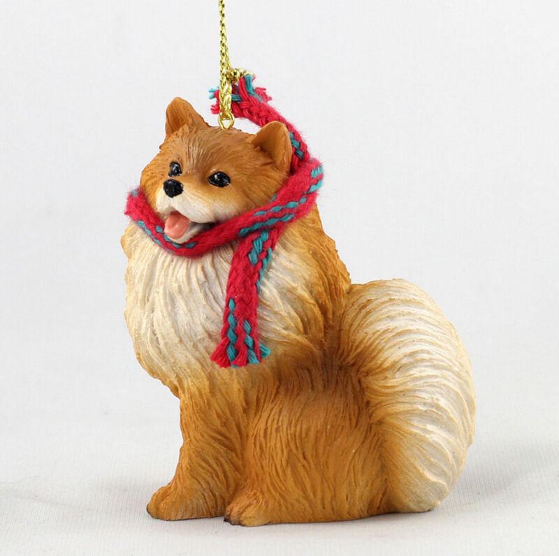 Pomeranian Christmas Scarf Ornament
