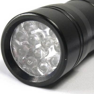 UV Ultra Violet 12 LED Flashlight Blacklight Light 395 nM Inspection Lamp Torch