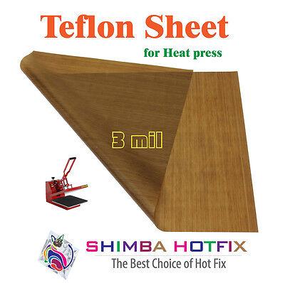 15x15 Teflon Sheet For Heat Press 3 Mil 0.003 Inch Flat Shipping Any Quantity