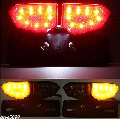 12V Smoke 18-LED Motorcycles ATV Brake Rear Tail Turning Signal Integrated Light, used for sale  China