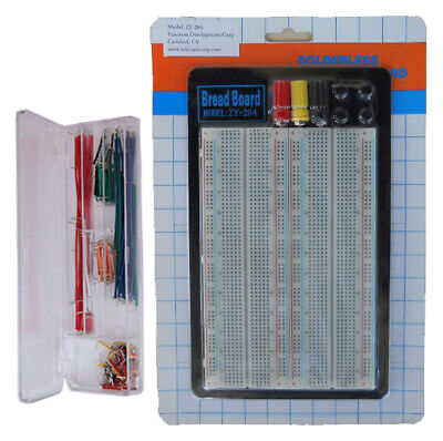 Tektrum Solderless 1660 Tie-points Experiment Plug-in Breadboard Kitsolid Wires