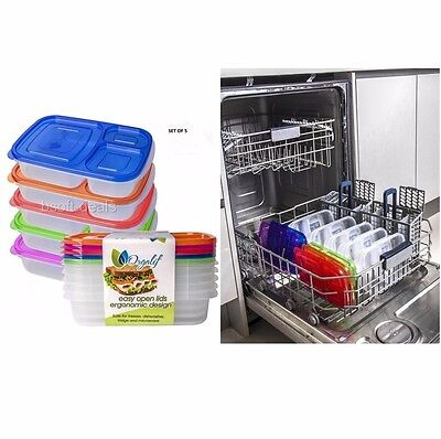 Plastic Food For Kids - Lunch Boxes For Kids Teens Adults School Food Storage Plastic Containers Divided