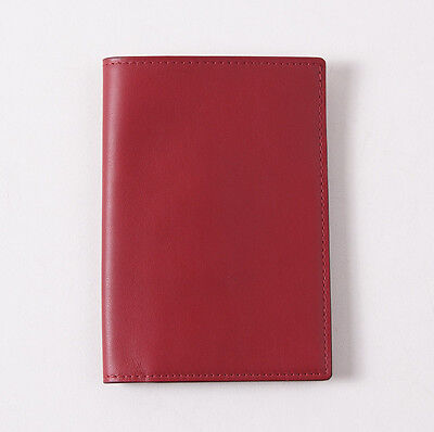 NWT TOM FORD Brick Red Smooth Calf Leather Passport Holder Card Wallet