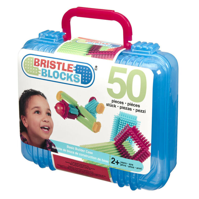 Bristle Blocks Basic Builder Blocks Case 50 pieces - NEW