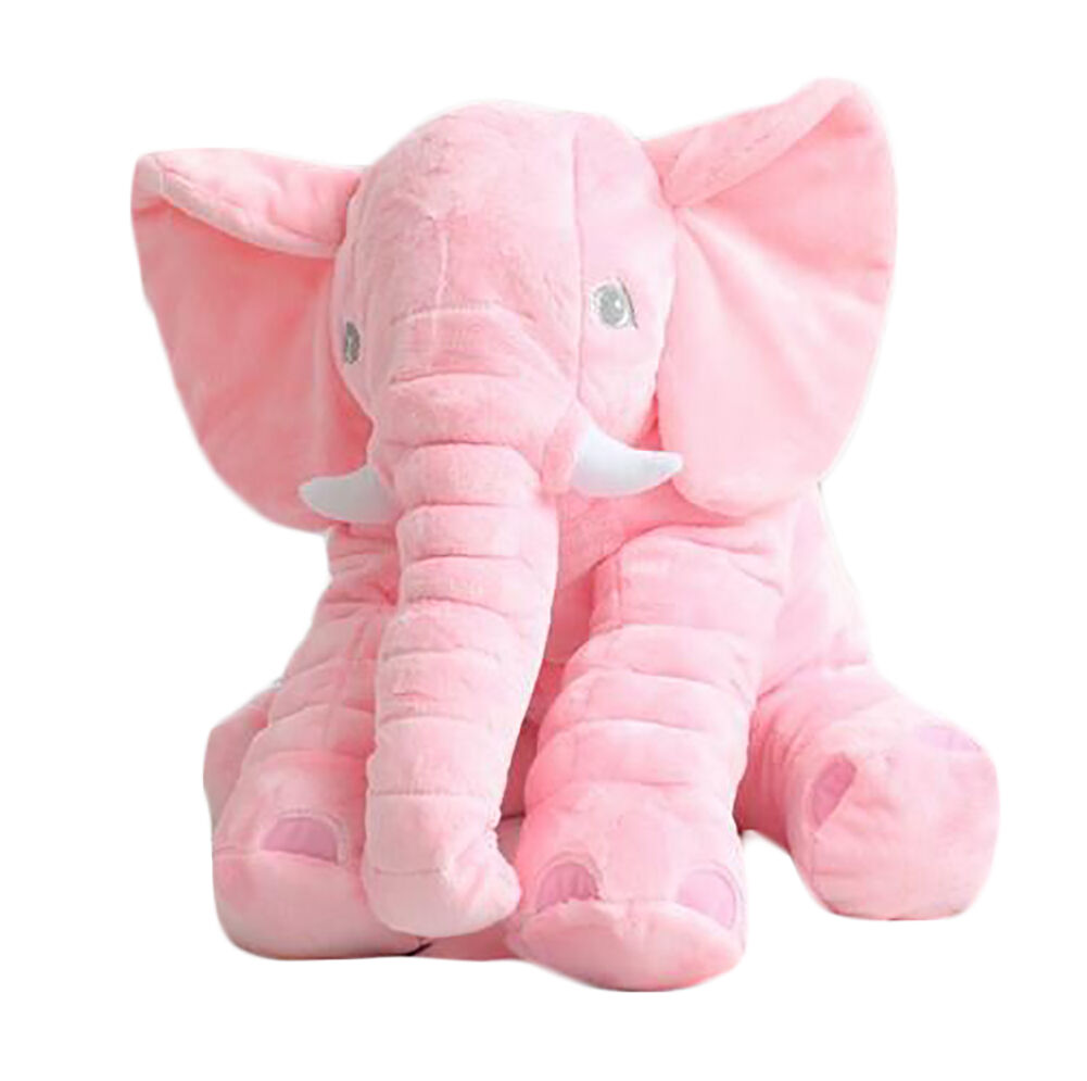 Elephant Stuffed Toy : Large pink elephant pillow cushion plush baby soft toy