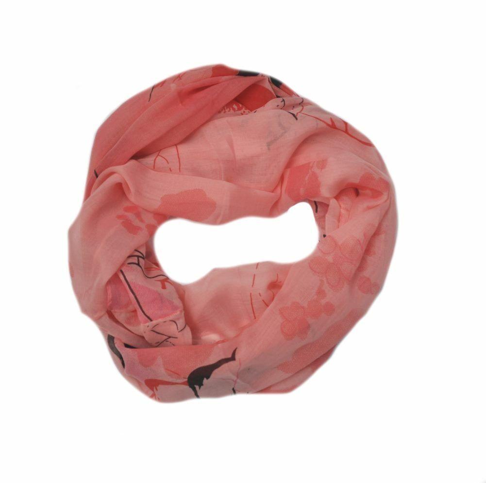 Seide Loop Schal Loopschal Rundschal Schlauchschal Tuch Tücher Damenschal Cotton
