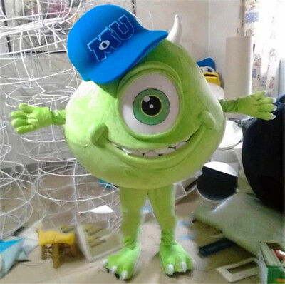 Mike Wazowski Mascot Costume From Monsters University Christmas Party Dress Suit (Monsters University Costume)