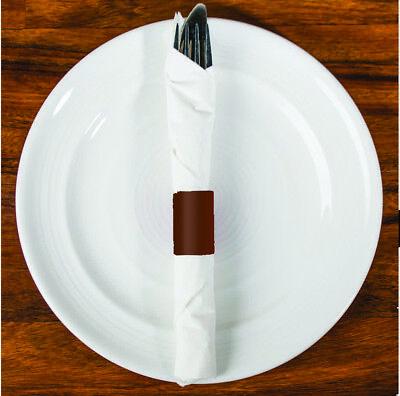 "500 Raise® Paper Napkin Band, Brown, 4-1/4""x1-1/2"", Self-Adhesive,Ship Free"