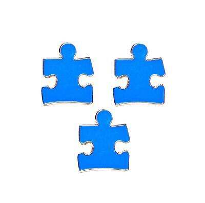 Blue Puzzle Piece Pin (3 Pack Autism Awareness Puzzle Piece Blue Lapel Hat Pins Raise Awareness)