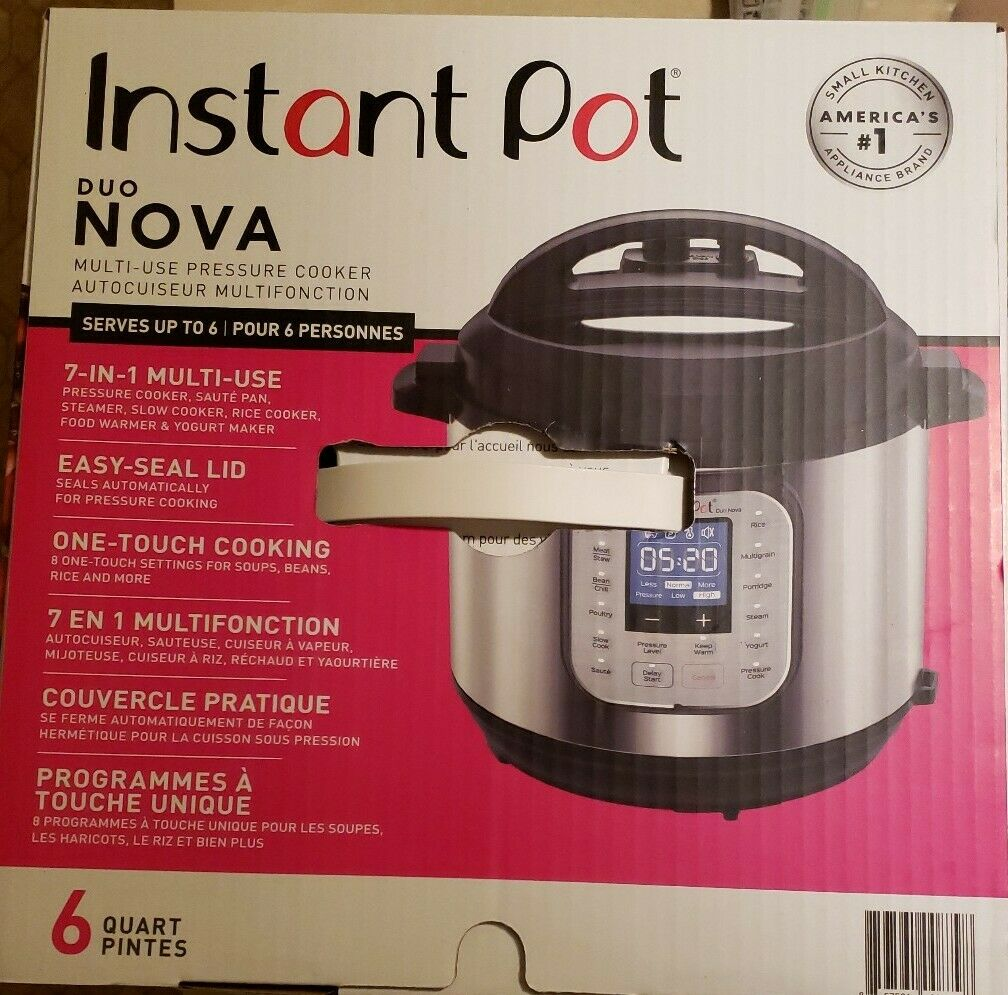 Instant Pot Duo Nova 6qt 7in1 1-Touch Multi-Use Programmable