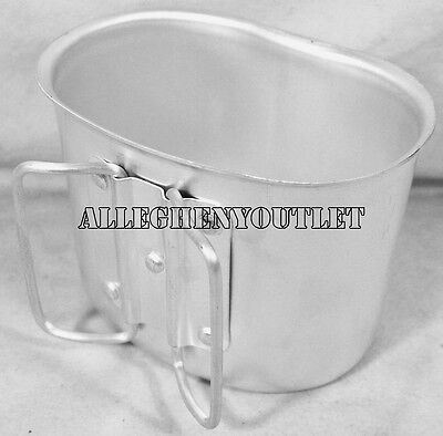 New GI Style Heavy Gauge Aluminum Canteen Cup - Fits 1 Quart Plastic Canteens