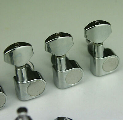TUNERS Tuning Pegs Chrome 2-pin Mount Squier-ICS-IC