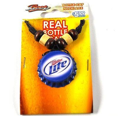 Miller Lite Beer Bier Kronkorken Halskette USA Bottle Cap Necklace ()