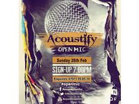 Sunday Open Mic Night - Acton W3