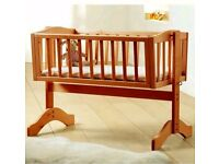 Saplings Bethany Swinging Crib in Antique Pine