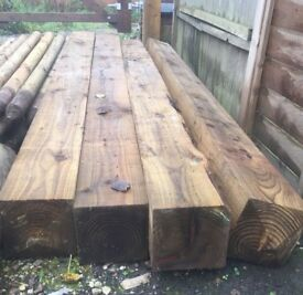 Brand New 7x7 Timber Posts - £20 each, only 2 left!