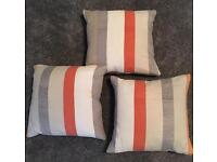 3 handmade cushion with pads and zips