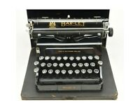 BAR-LET TYPEWRITER Model 2 (1920's). Good condition. Good Antique piece for collectors.