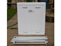 600x500mm Double Panel Double Convector Radiator with finishing guards