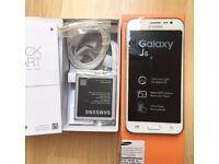 Brand New Samsung Galaxy J5 (4g) 8GB 13MP DUAL SIM 12 Months Warranty- White