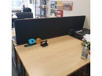 2 desk dividers black 5 feet long