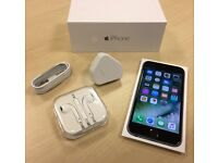 Boxed Space Grey Apple iPhone 6 16 GB On o2 / GiffGaff / Tesco Networks + Warranty