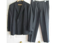 Mens Black Dinner Suit - 44 jacket and 40 trousers