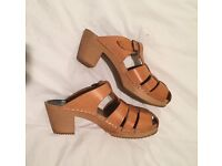 MUST SELL leather mules