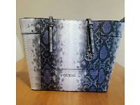 Guess Snake Skin Faux Leather Bag