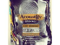 MUSICIANS WANTED - Open Mic EVERY Wednesday