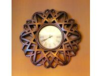 Large ornate wall clock from Homesense - beautiful copper colour. £25 ono COLLECTION ONLY