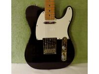 Fender Telecaster: USA Standard Tele with original case. Black with Maple neck.